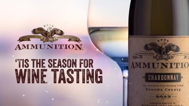 Ammunition Wines of Christmas Past Present and Future.