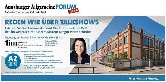 Augsburger Allgemeine Forum live mit Anne Will