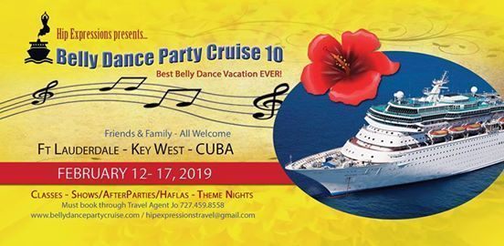 10th Annual Hip Belly Dance Party Cruise 2019 to CUBA
