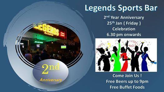 Legends Sports Bar 2nd Anniversary