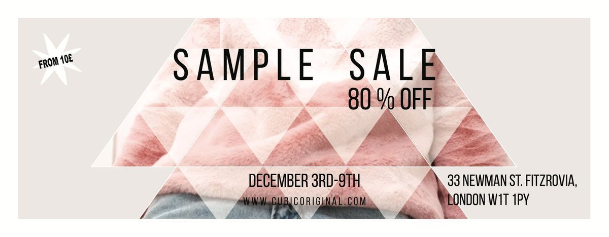 Cubic Christmas Sample Sale