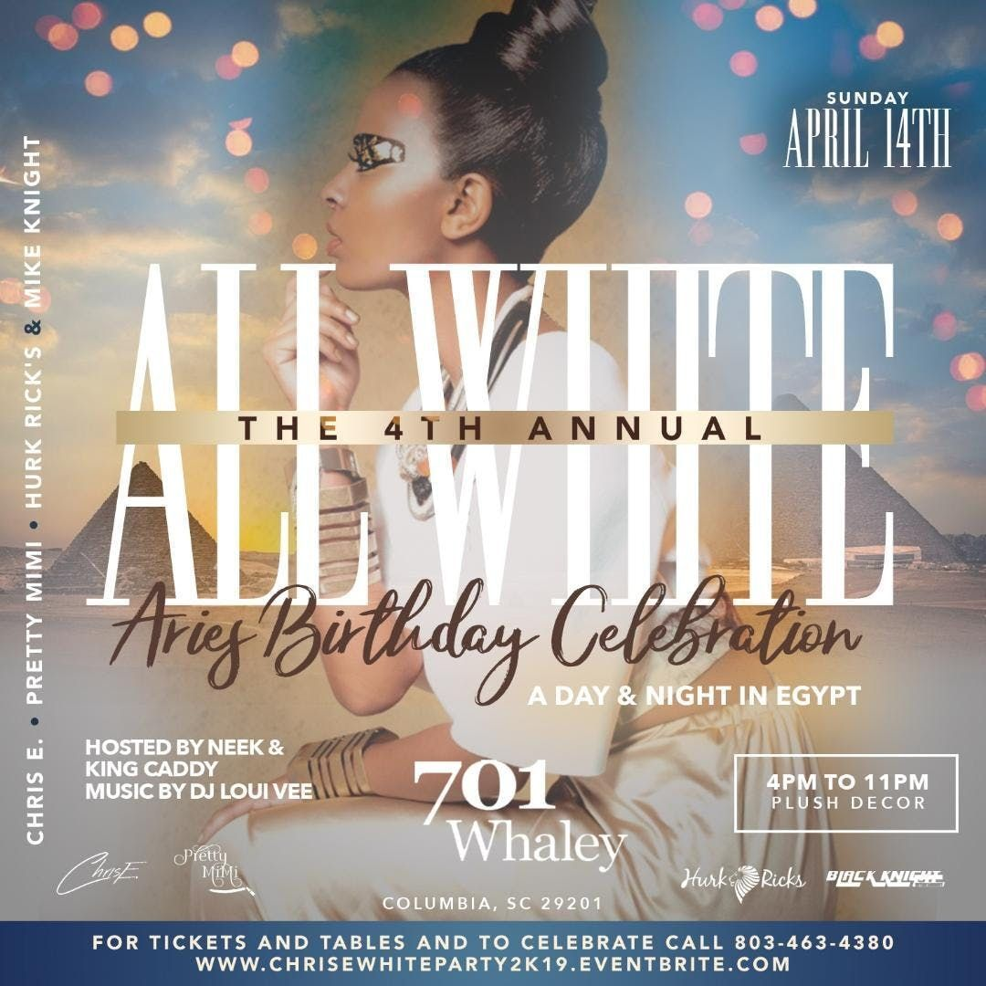 THE 4TH ANNUAL ALL WHITE AFFAIR A DAYNIGHT IN EGYPT