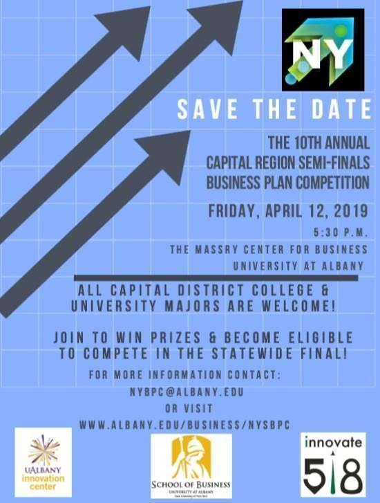 New York Business Plan Competition Capital Region Semi-Finals 2019
