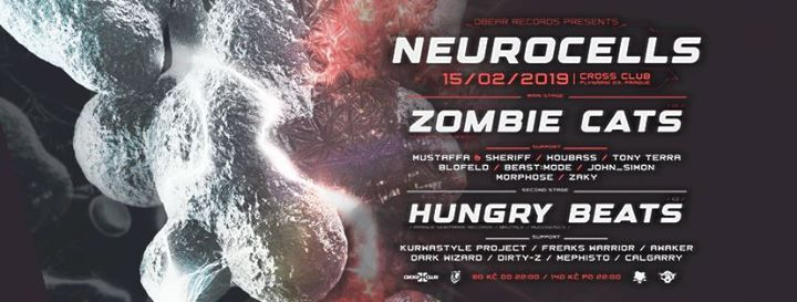 Neurocells 3 w Zombie Cats & Hungry Beats at Cross club - 15.2