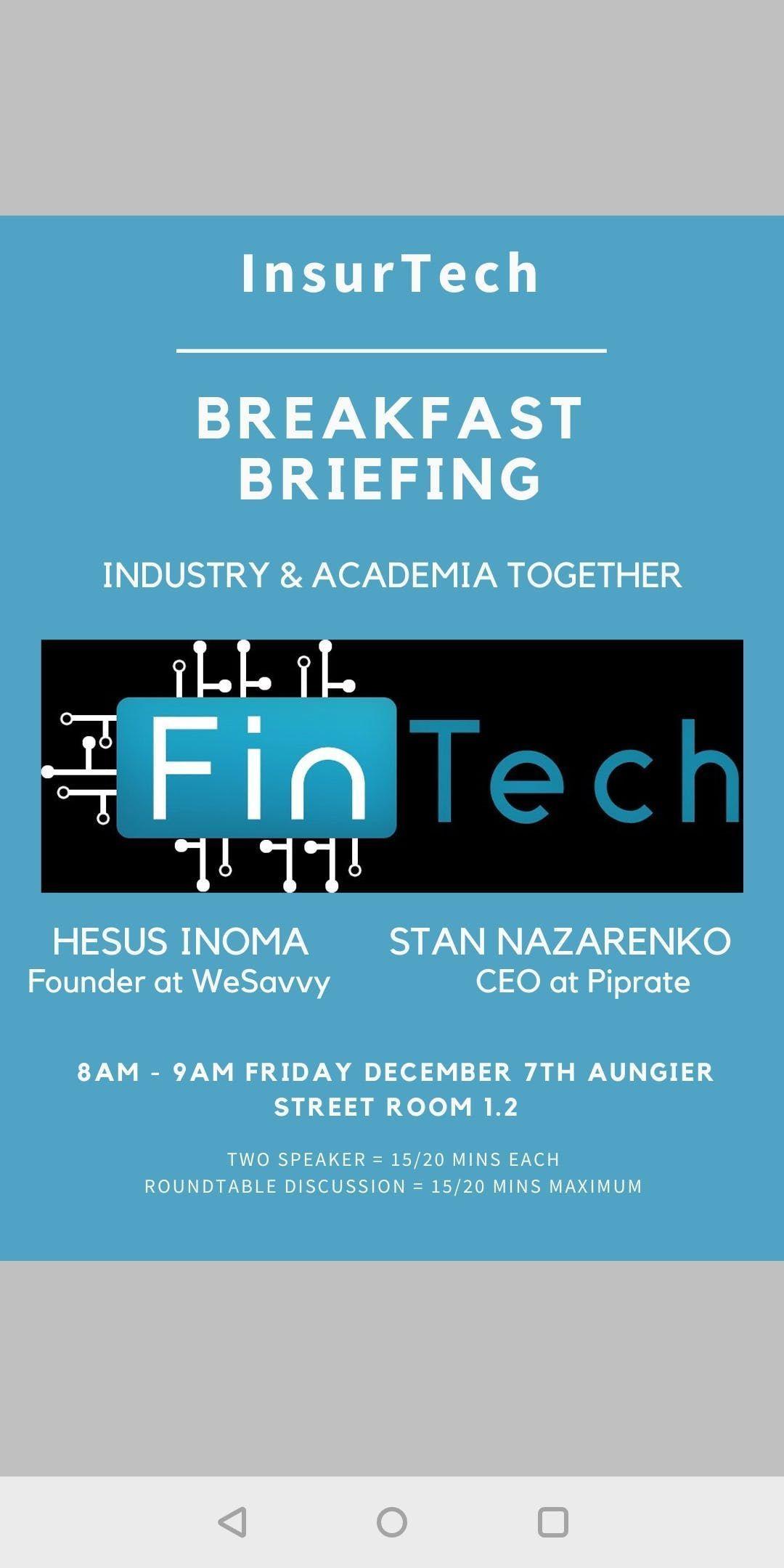 InsurTech Breakfast Briefing.