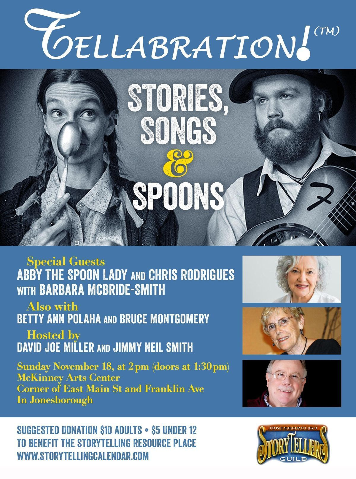 Stories Songs and Spoons with Abby The Spoon Lady and Chris Rodrigues