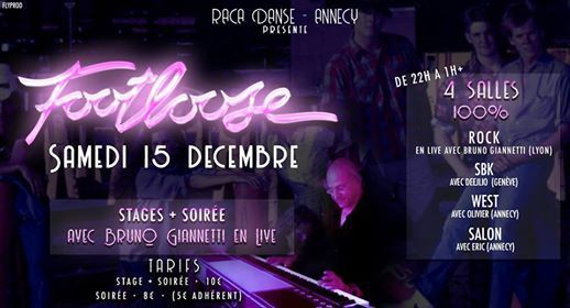 Footloose 8 Stages  Soire avec Bruno Giannetti en Live