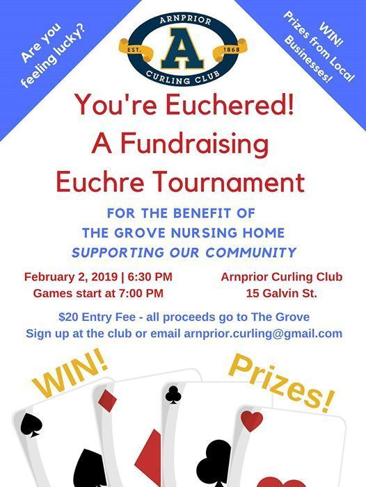 Euchre Tournament - Fundraiser for The Grove