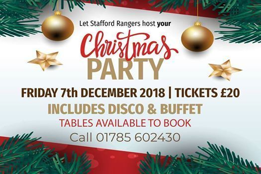 Let Stafford Rangers host your Christmas Party