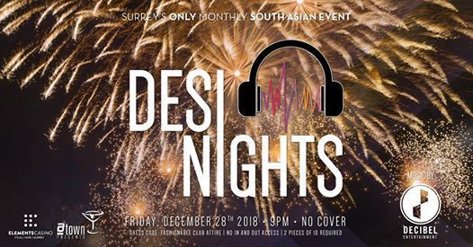 Desi Nights Countdown to 2019 at Elements Casino