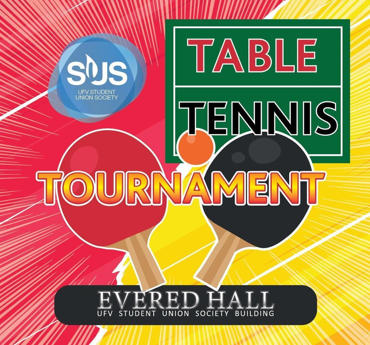 Table Tennis Tournament March 6th