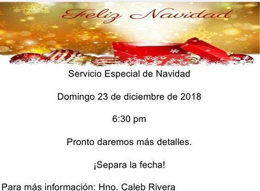 Servicio Especial de Navidad