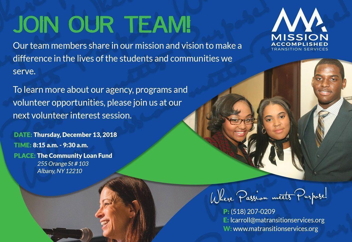 Volunteer Interest Session