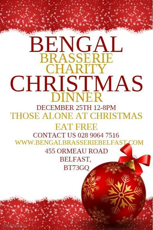 Bengal Brasserie Ormeau Road Christmas Charity Dinner