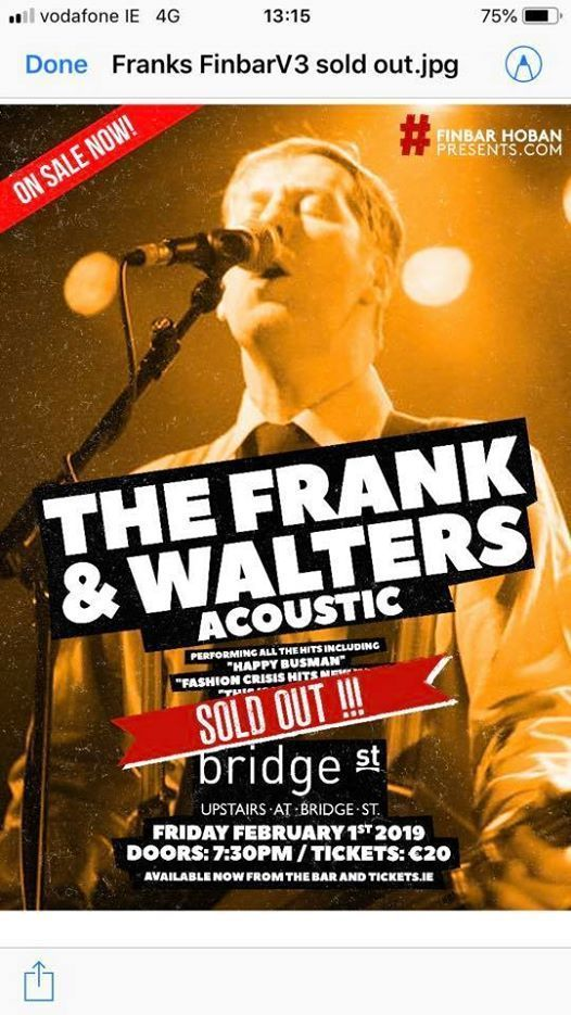 The Frank & Walters Acoustic Bridge Street