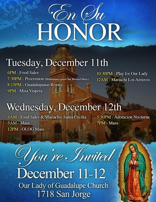 En Su Honor-Celebration of the Feast of Our Lady of Guadalupe
