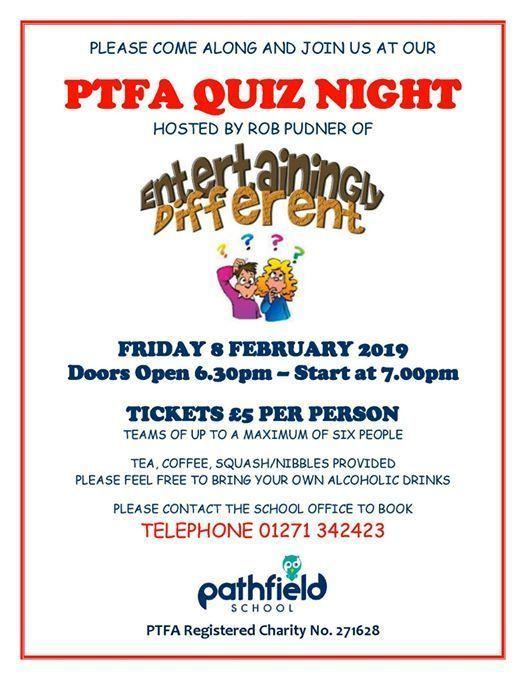 Postponed - PTFA Quiz Night