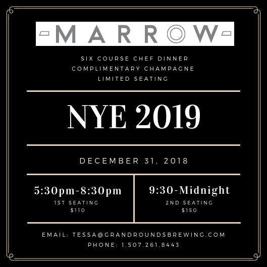 NYE 2019 Chefs Dinner-First Seating