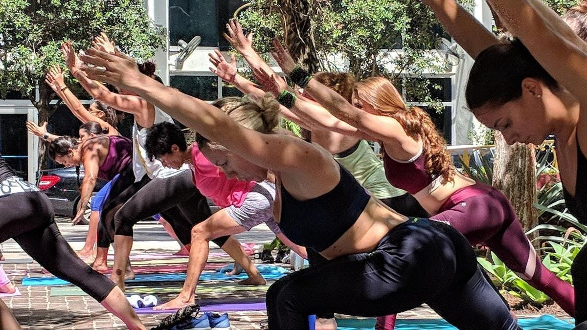 FREE Community Yoga at The Brickell Flatiron Park