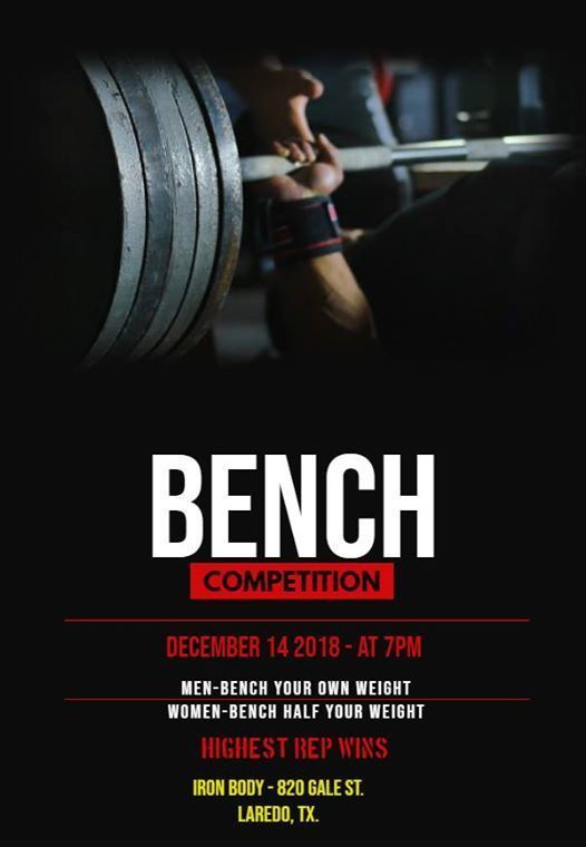 Iron Bodys Benching competition