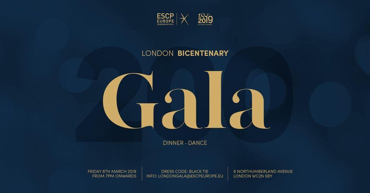 Bicentenary  ESCP Europe London Campus Annual Gala 2019